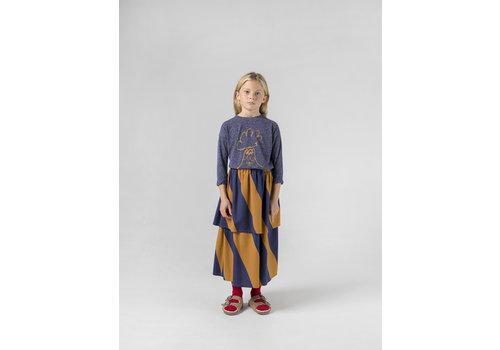 Bobo Choses Bobo Choses midi skirt stripes sudan brown