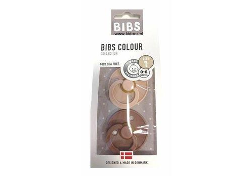 Bibs Bibs fopspeen set van 2 woodchuck-blush T1