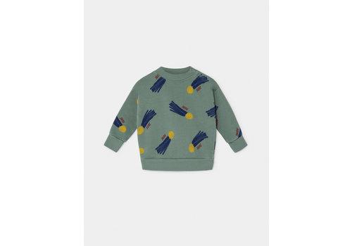 Bobo Choses Bobo Choses sweatshirt all over a star called home iceberg green