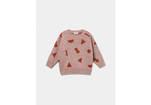 Bobo Choses Bobo Choses sweater stuff jacquard mellow rose