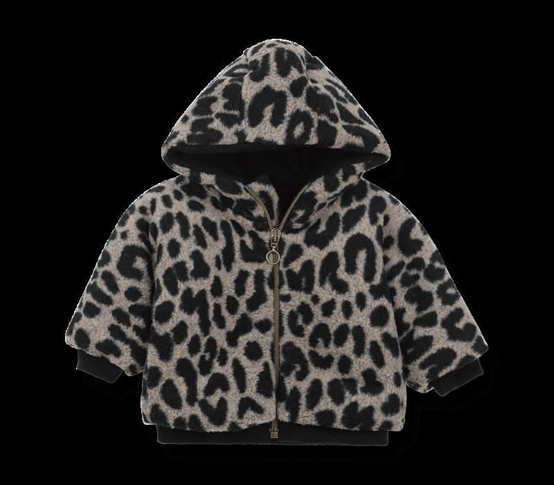 1 + in the family winterjas columbia leopard zwart