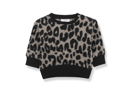 1 + in the family 1 + in the family sweater manitoba leopard zwart