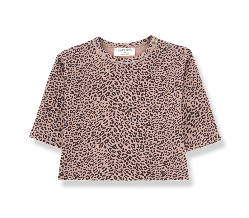 1 + in the family longsleeve rotterdam leopard rose