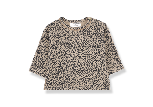 1 + in the family 1 + in the family longsleeve rotterdam leopard zwart