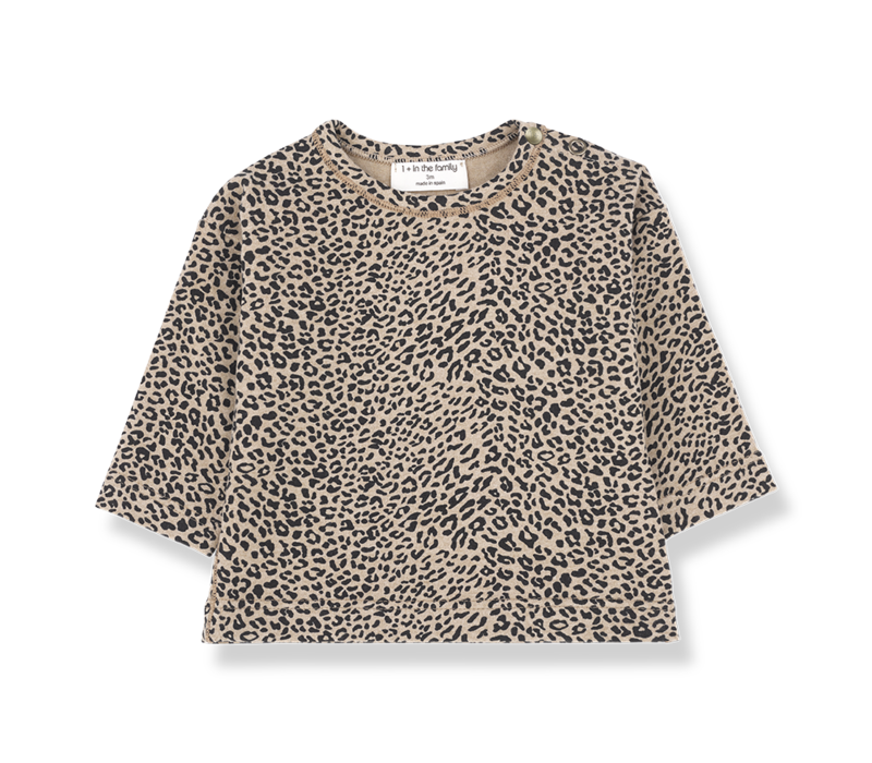 1 + in the family longsleeve rotterdam leopard zwart
