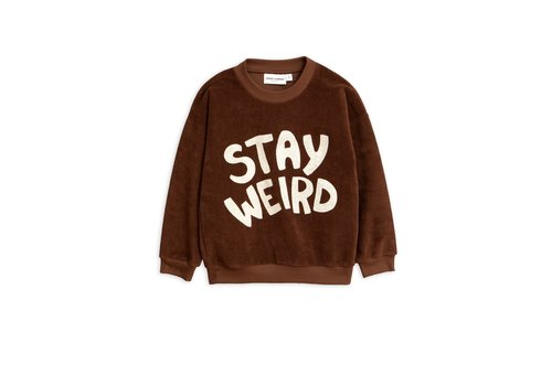 Mini Rodini Mini Rodini sweater stay weird brown