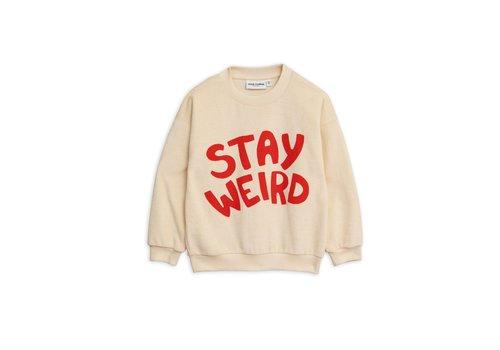 Mini Rodini Mini Rodini sweater stay weird offwhite