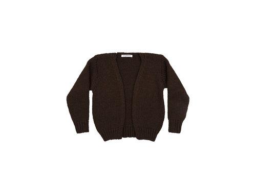 Mingo Mingo knit vest bitter chocolate