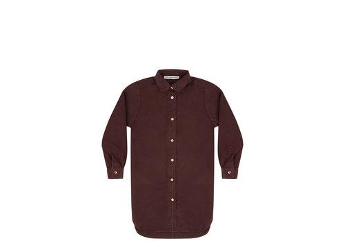 Mingo Mingo shirt dress bitter chocolate