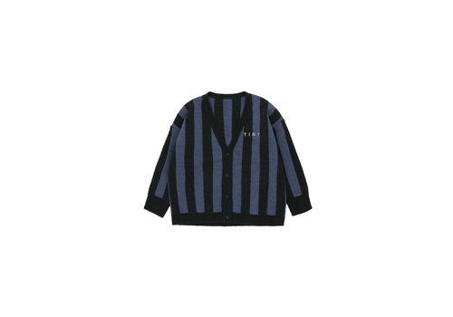 Tiny Cottons Tiny Cottons vest streep zwart-blauw