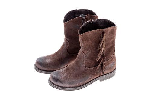 Tocoto vintage Tocoto vintage suede boots met franje