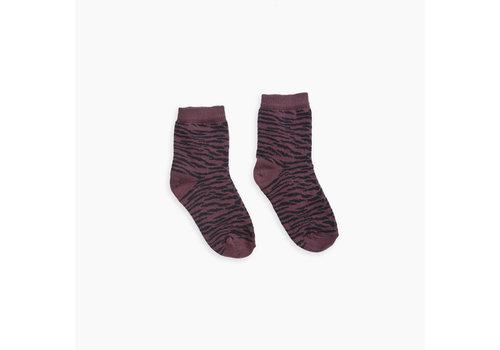 Sproet & Sprout Sproet & Sprout sokken tiger burgundy