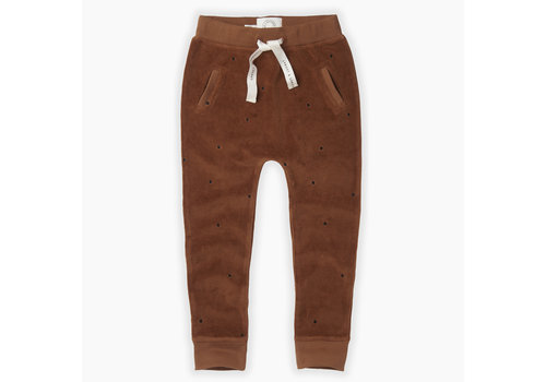 Sproet & Sprout Sproet & Sprout velvet jogger dots mocha