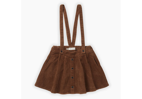 Sproet & Sprout Sproet & Sprout corduroy rok mocha