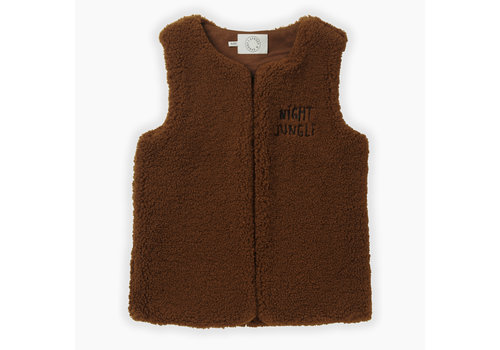 Sproet & Sprout Sproet & Sprout gilet terry mocha