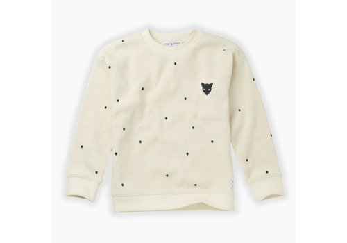 Sproet & Sprout Sproet & Sprout sweater dots milk
