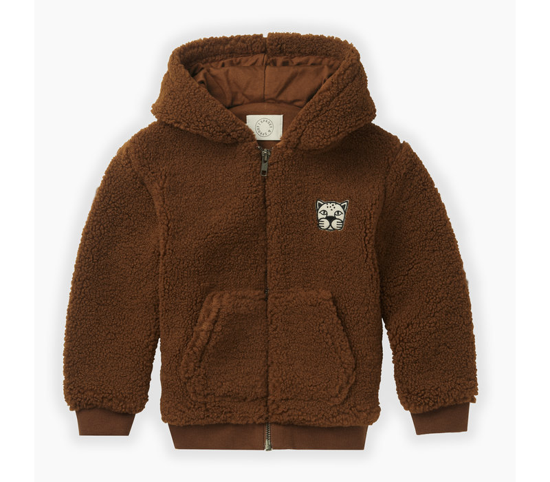 Sproet & Sprout hoodie vest terry mocha