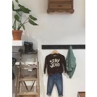 Mini Rodini sweater stay weird brown