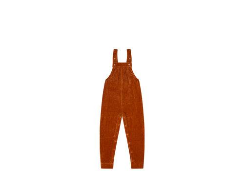 Mingo Mingo salopette velvet rib leather brown