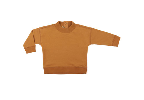 Phil & Phae Phil & Phae baby rib-neck sweater gold ochre