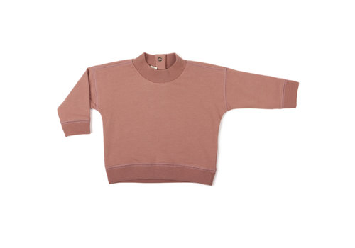 Phil & Phae Phil & Phae baby rib-neck sweater dusty blush