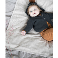 Phil & Phae pompon baby knit cardigan charcoal
