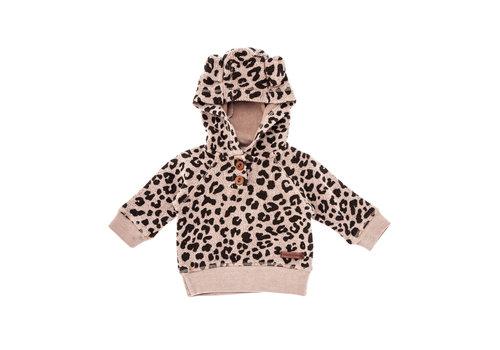 Tocoto vintage Tocoto vintage hoodie leopard bruin