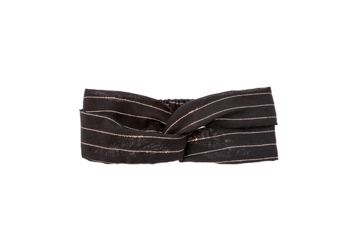 Tocoto vintage Tocoto vintage haarband lurex zwart