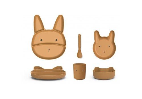 Liewood Liewood jules junior bamboo set rabbit mustard