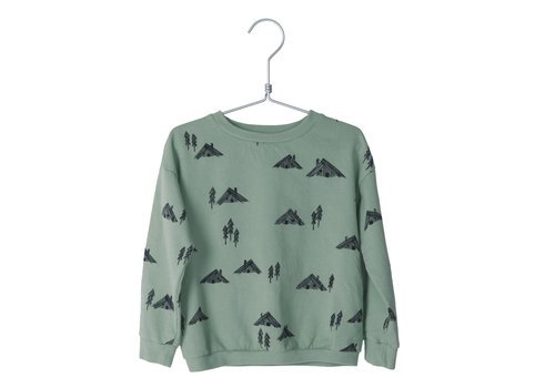 Lötie kids Lötie kids sweater cottages dark mint