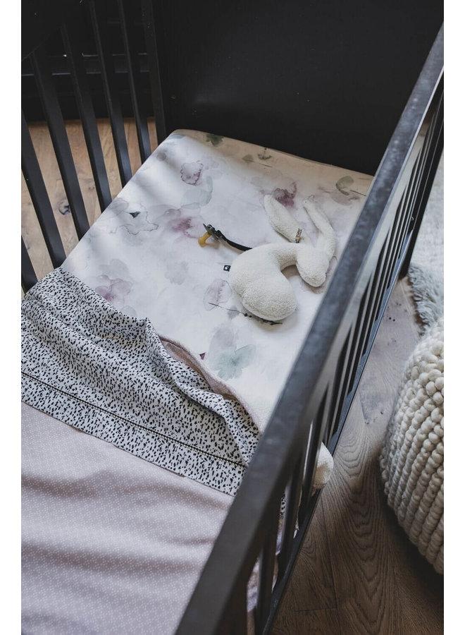 Mies & Co soft teddy wieg deken pretty pearls pink