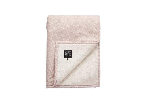 Mies & Co Mies & Co soft teddy wieg deken pretty pearls pink