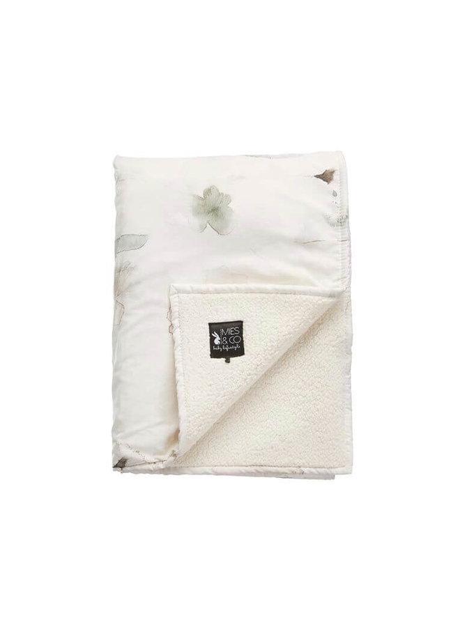 Mies & Co soft teddy wieg deken forever flower