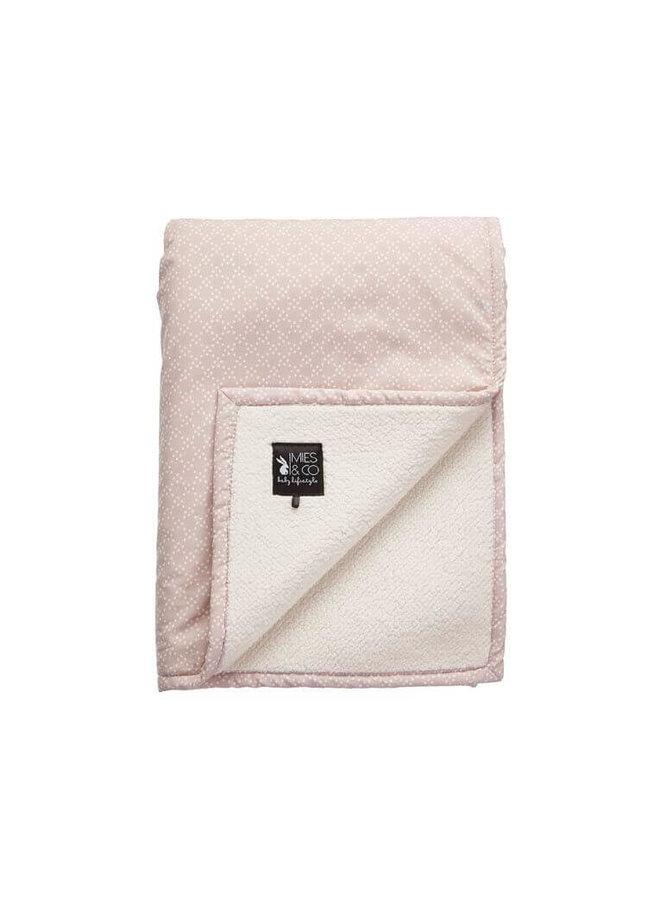Mies & Co soft teddy ledikant deken pretty pearls pink
