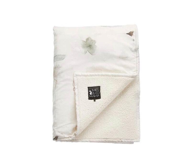 Mies & Co soft teddy ledikant deken forever flower
