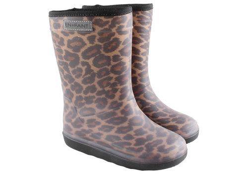 Enfant Enfant laarzen leopard brown