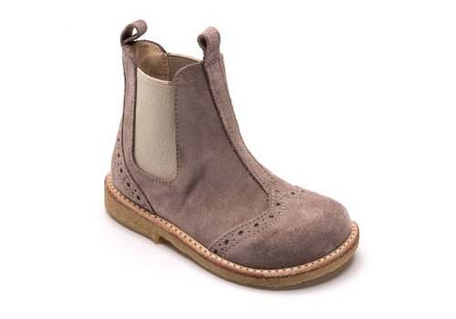 Angulus Angulus  classic chelsea boot with elastic lavender