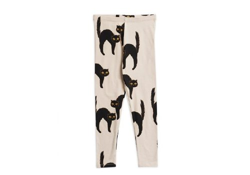 Mini Rodini Mini Rodini legging catz light grey