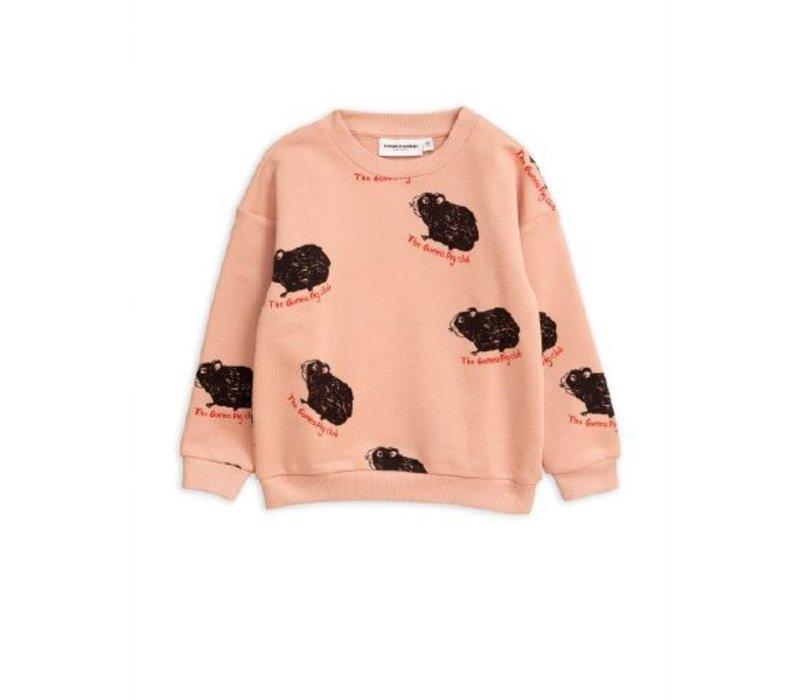 Mini Rodini sweater guinea pig pink