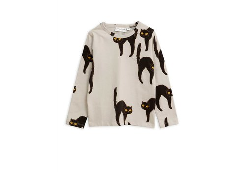 Mini Rodini Mini Rodini longsleeve catz light grey