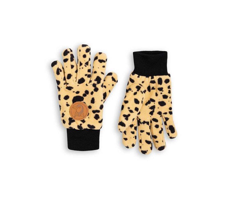 Mini Rodini handschoenen fleece spot beige