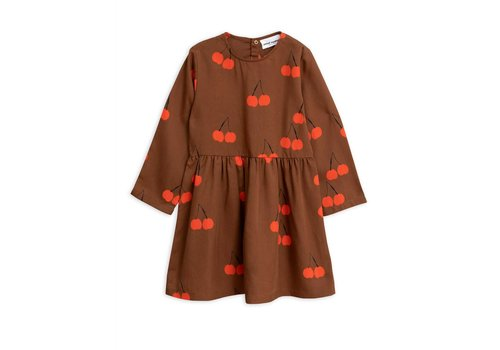 Mini Rodini Mini Rodini jurk cherry brown
