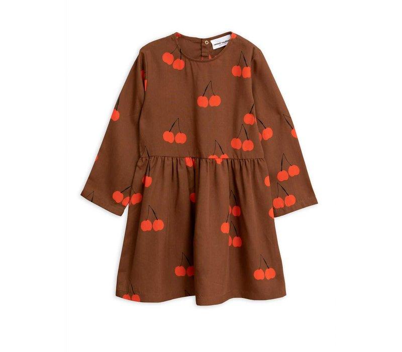 Mini Rodini jurk cherry brown