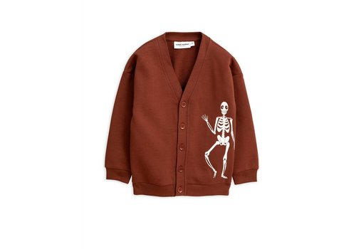 Mini Rodini Mini Rodini vest skeleton brown