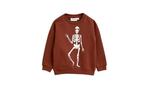 Mini Rodini Mini Rodini sweater skeleton brown