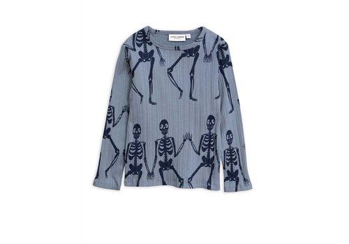 Mini Rodini Mini Rodini longsleeve skeleton blue