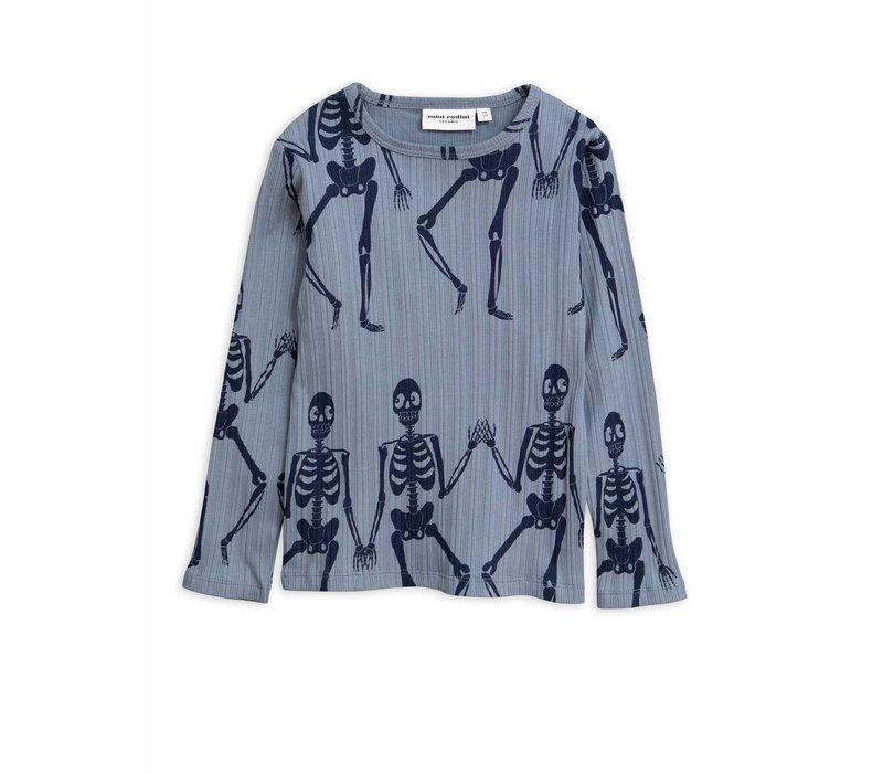 Mini Rodini longsleeve skeleton blue