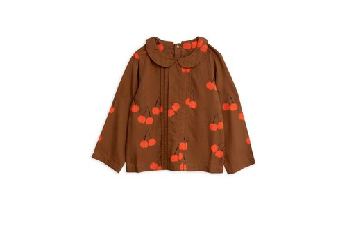 Mini Rodini Mini Rodini blouse cherry brown
