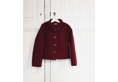 Daily Brat Daily brat jacket maroon jamie teddy