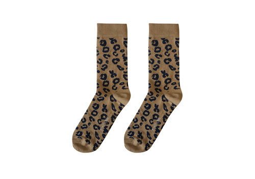 Maed for mini Maed for mini MAMA sokken leopard brown